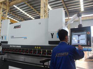 touch screen control cnc press brake machine 6 axis 220T 4000MM siemens motor power