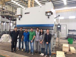 ब्राजिलका ग्राहकहरू कारखानामा जानुहोस् र ब्रेक प्रेस किन्नुहोस्