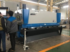 Hydraulic guillotine machine MS8-8x3200 with sheet support system